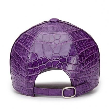 Alligator Skin Hat Baseball Cap-Purple-Back
