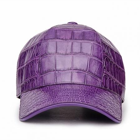 Alligator Skin Hat Baseball Cap-Purple-Front