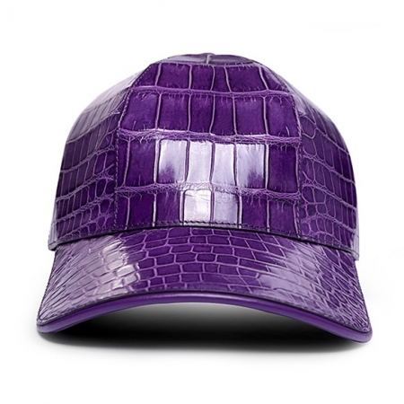 Alligator Skin Hat Baseball Cap for Women-Purple