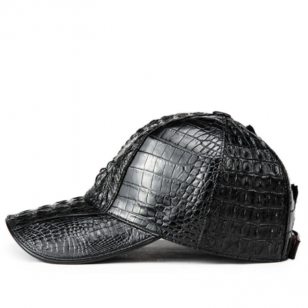 Alligator Skin Hat, Crocodile Skin Hat-Black