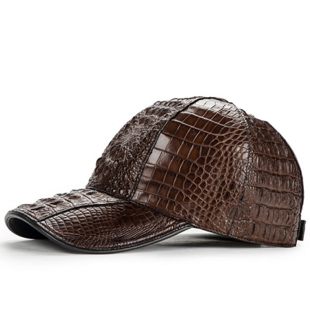 Alligator Skin Hat, Crocodile Skin Hat-Brown