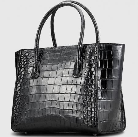 Alligator Skin Top Handle Handbag Tote Bag-1