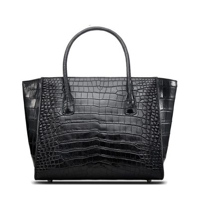 Alligator Skin Top Handle Handbag Tote Bag