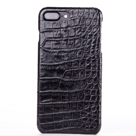Black-Crocodile Belly Skin iPhone 8 Plus Case