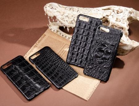 Black-Crocodile Skin iPhone 8 Plus Case