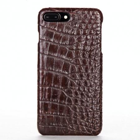 Brown-Crocodile Belly Skin iPhone 8 Plus Case