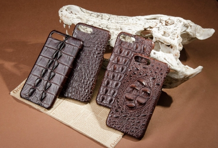 Brown-Crocodile Skin iPhone 8 Plus Case