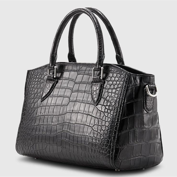 Casual Alligator Leather Tote Shoulder Handbag for Women-1