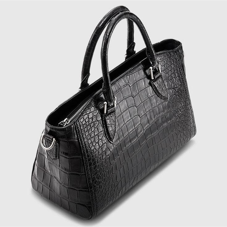 Casual Alligator Leather Tote Shoulder Handbag for Women-2