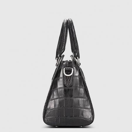 Casual Alligator Leather Tote Shoulder Handbag for Women-Side