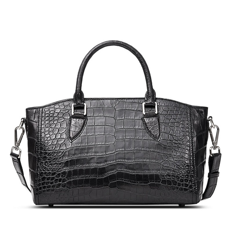 Casual Alligator Leather Tote Shoulder Handbag for Women