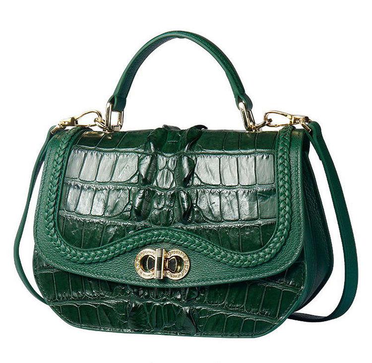 Chic and Stylish Crocodile Handbag, Crocodile Purse-1