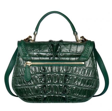 Chic and Stylish Crocodile Handbag, Crocodile Purse-Back