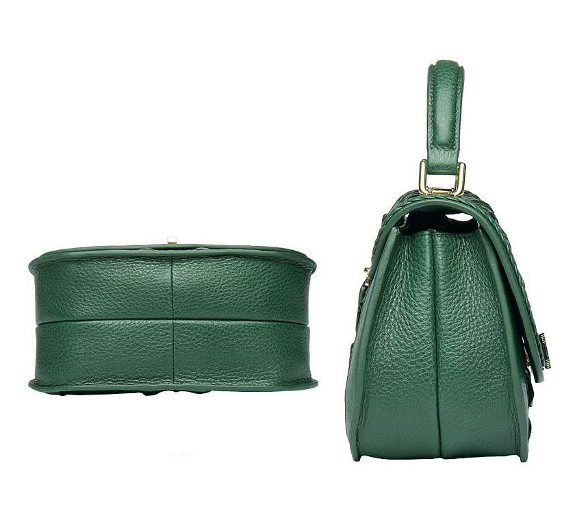 Chic and Stylish Crocodile Handbag, Crocodile Purse-Side-Bottom