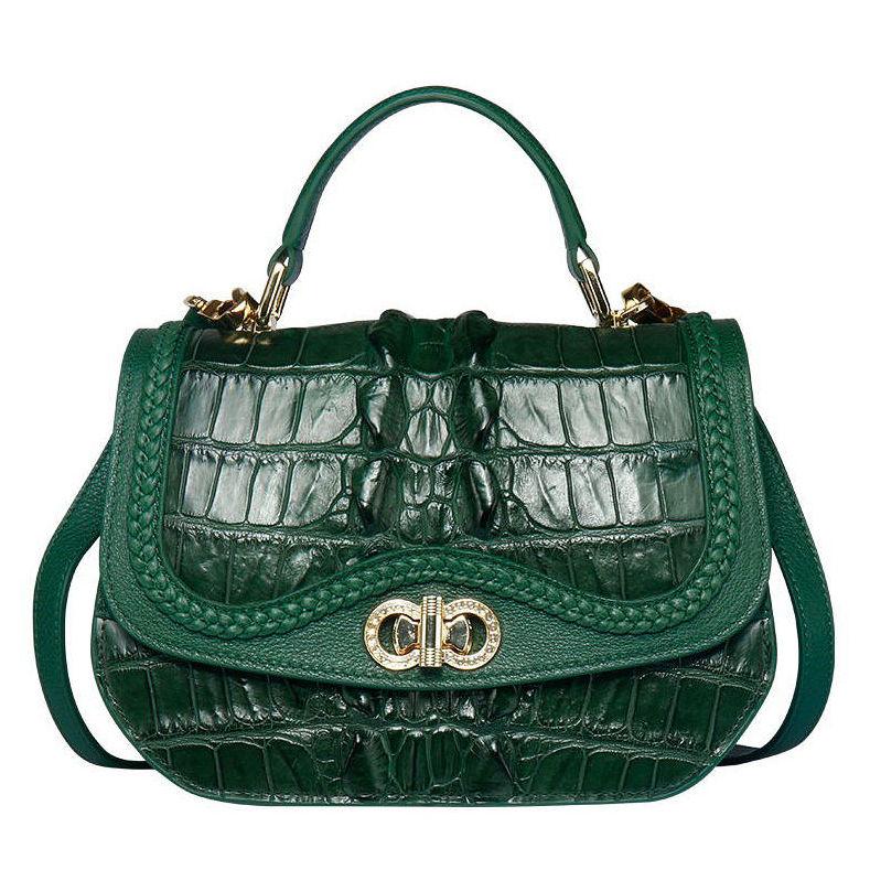 Chic and Stylish Crocodile Handbag, Crocodile Purse