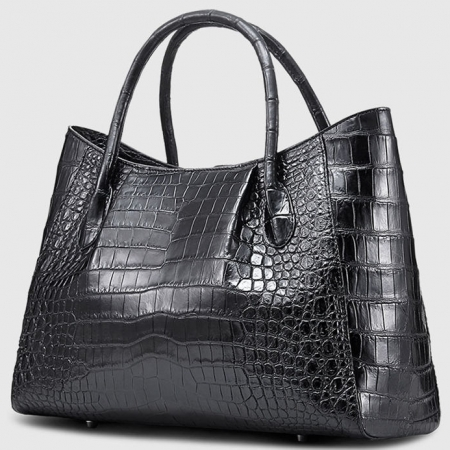 Classic Alligator Skin Tote Shoulder Handbag