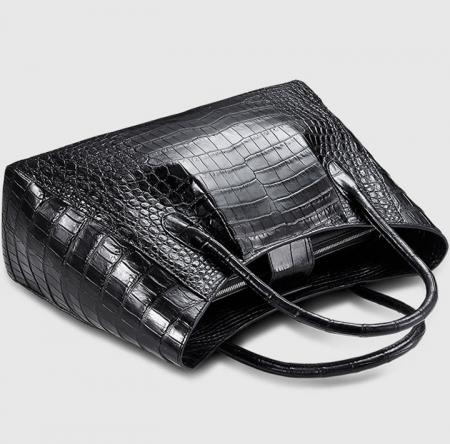 Classic Alligator Skin Tote Shoulder Handbag Shopping Travel Carry on Purse Bag-1