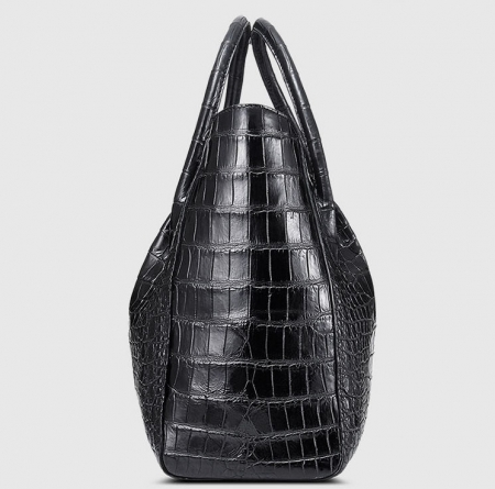 Classic Alligator Skin Tote Shoulder Handbag Shopping Travel Carry on Purse Bag-Side