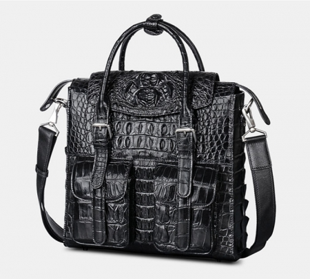 Crocodile Briefcase Shoulder Cross-body Laptop Business Bag