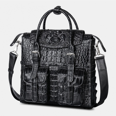 Crocodile Briefcase Shoulder Cross-body Laptop Business Bag