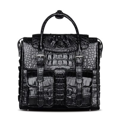 Crocodile Briefcase Shoulder Cross-body Laptop Business Bag for Men