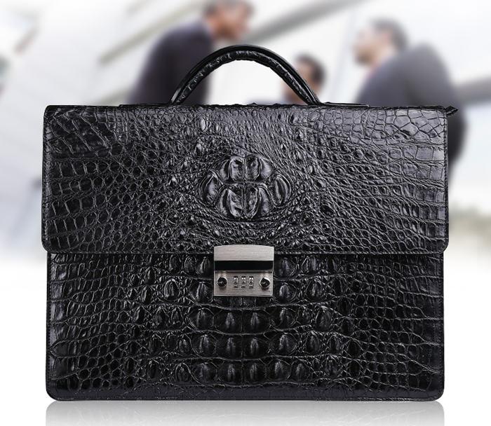 Crocodile Portfolio Bag