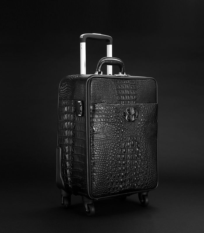 Crocodile Rolling briefcase