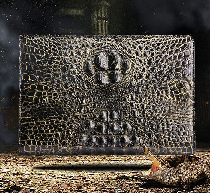 Crocodile Skin Padfolio Bag