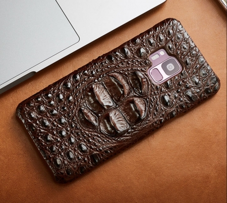 Crocodile and Alligator Leather Cases for Galaxy S9
