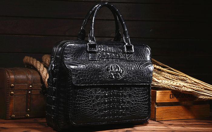 Crocodile and Alligator Skin Laptop Bag