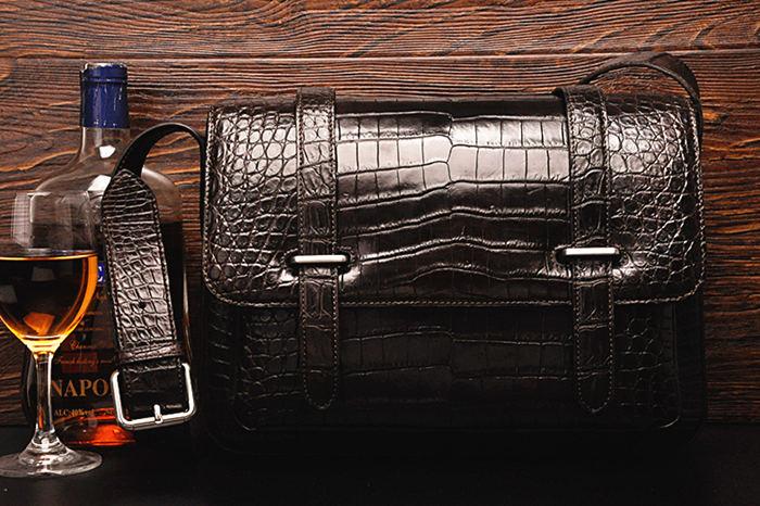 Crocodile and Alligator Skin School Bag