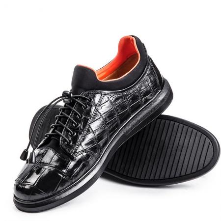 Fashion Alligator Sneaker, Luxury Alligator Sneaker for Men-Black