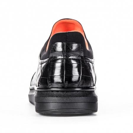 Fashion Alligator Sneaker, Luxury Alligator Sneaker for Men-Heel