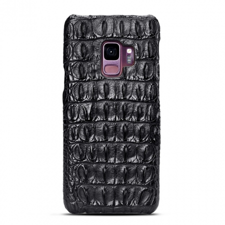 Galaxy S9 Crocodile Back Skin Case - Black