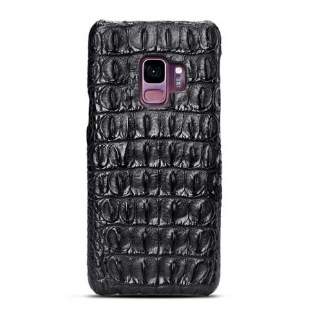 Galaxy S9 Crocodile Back Skin Case - Black