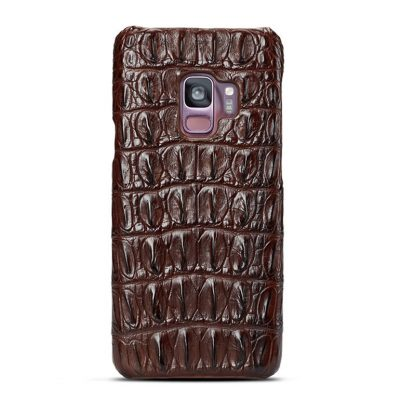 Galaxy S9 Crocodile Back Skin Case - Brown