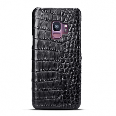 Galaxy S9 Crocodile Belly Skin Case - Black