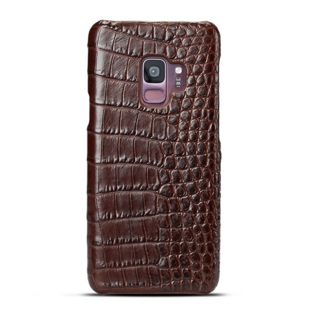 Galaxy S9 Crocodile Belly Skin Case - Brown