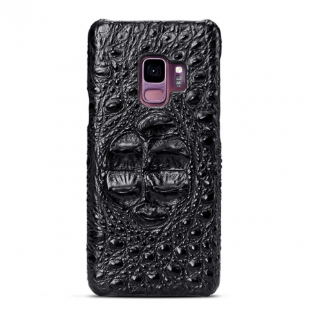 Galaxy S9 Crocodile Head Skin Case - Black