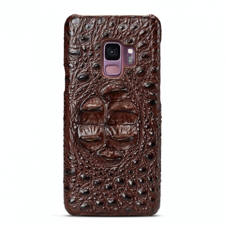 Galaxy S9 Crocodile Head Skin Case - Brown