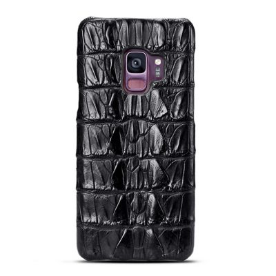 Galaxy S9 Crocodile Tail Skin Case - Black