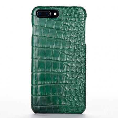 Green-Crocodile Belly Skin iPhone 8 Plus Case