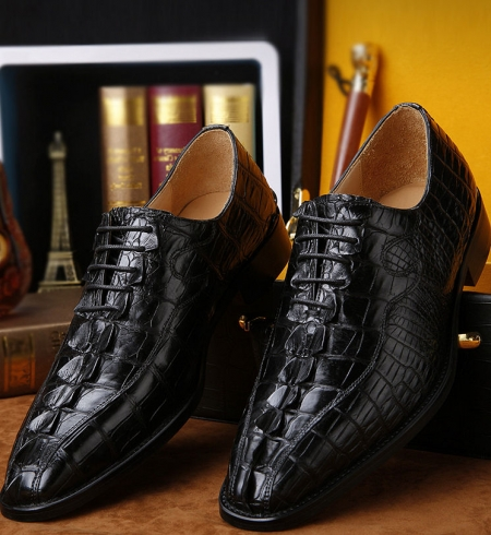 Mens Genuine Alligator Skin Shoes