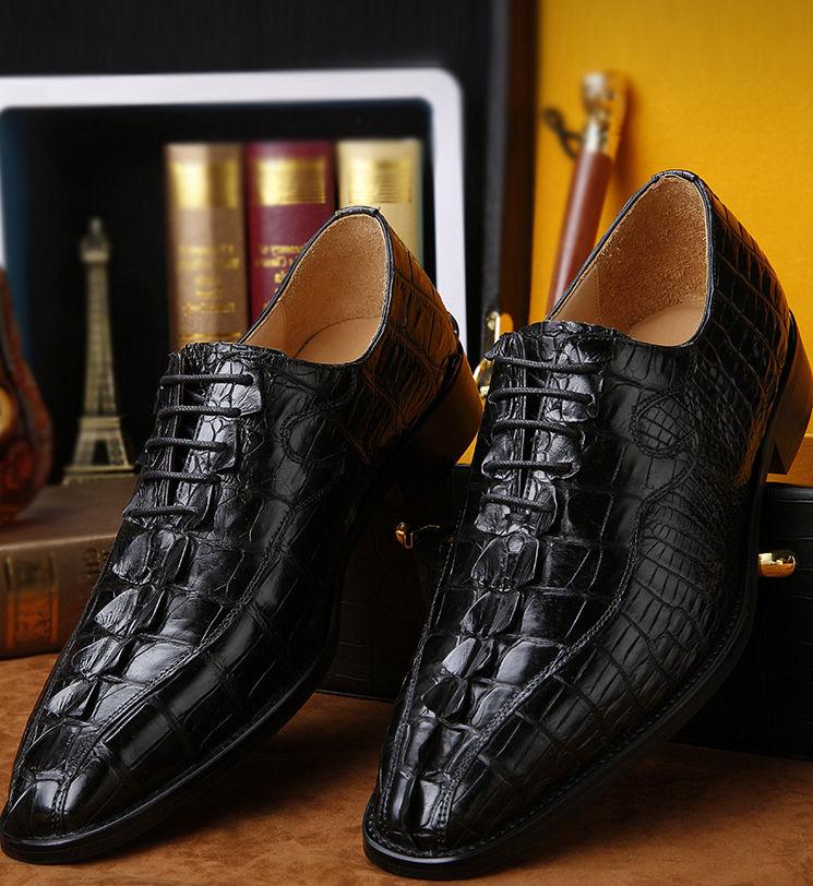 Mens Genuine Alligator Skin Shoes