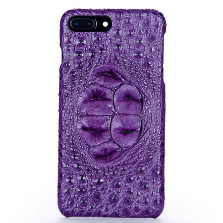 Purple-Crocodile Head Skin iPhone 8 Plus Case