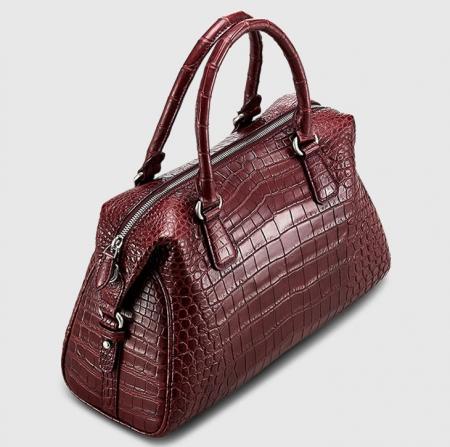 Women Casual Alligator Handbag, Fashion Top Handle Bag Cross body Shoulder Bag-2