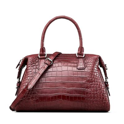 Women Casual Alligator Handbag, Fashion Top Handle Bag Crossbody Shoulder Bag