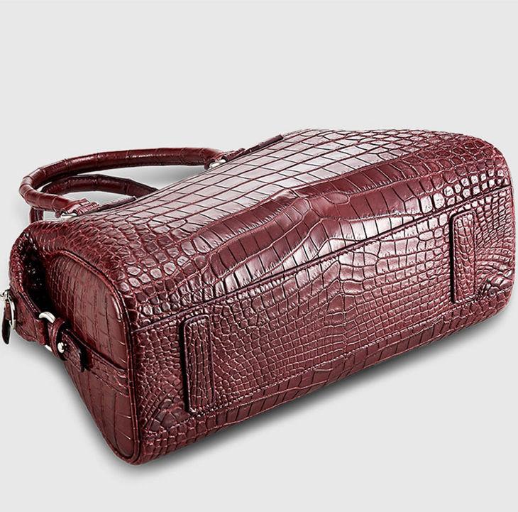 Women Casual Alligator Handbag, Fashion Top Handle Bag Cross body Shoulder Bag-Bottom