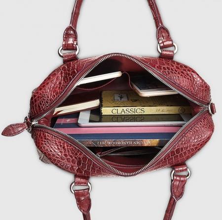 Women Casual Alligator Handbag, Fashion Top Handle Bag Cross body Shoulder Bag-Inside