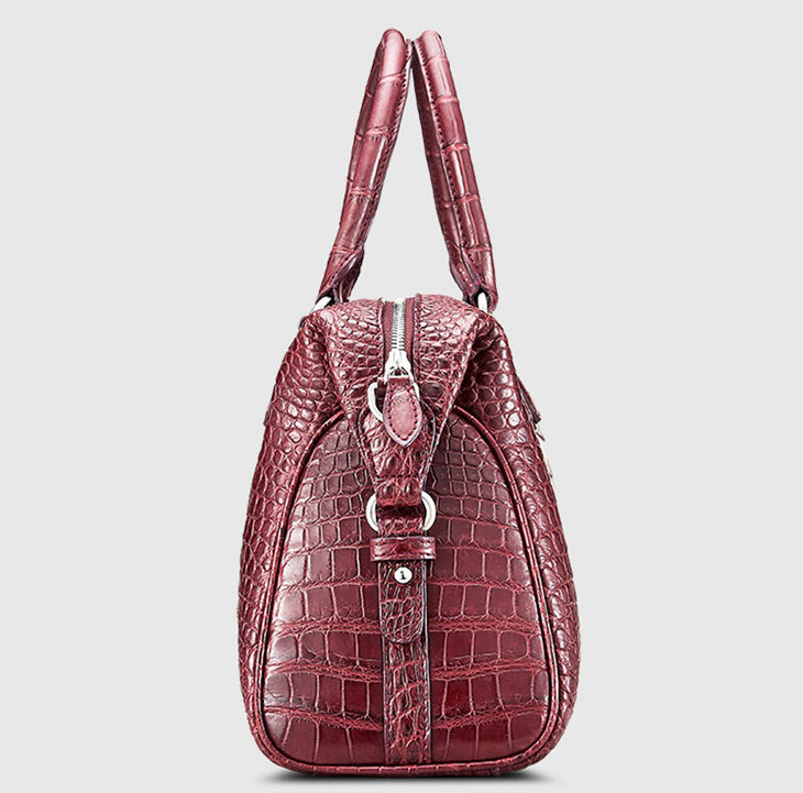 Women Casual Alligator Handbag, Fashion Top Handle Bag Cross body Shoulder Bag-Side